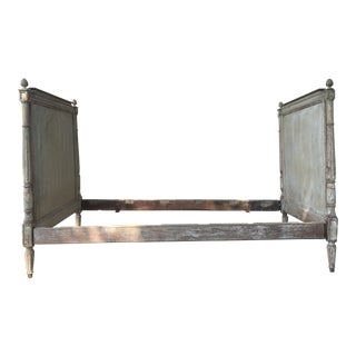Antique 19th Century French Wood Directoire Style Bed Frame Daybed For Sale