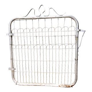 Vintage Metal Wire Garden Gate For Sale