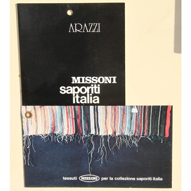 """Missoni Missoni """"No. 3"""" - Rectangles"""" Wool Tapestry For Sale - Image 4 of 4"""