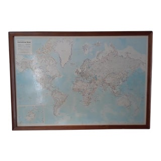 Rand McNally Mid-Century International World Map