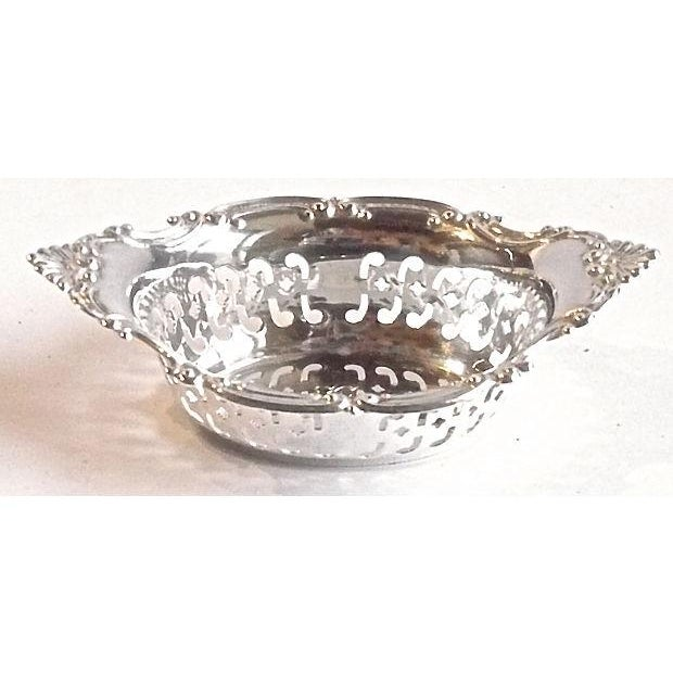 Vintage Sterling Silver Pierced Nut Dish - Image 4 of 6