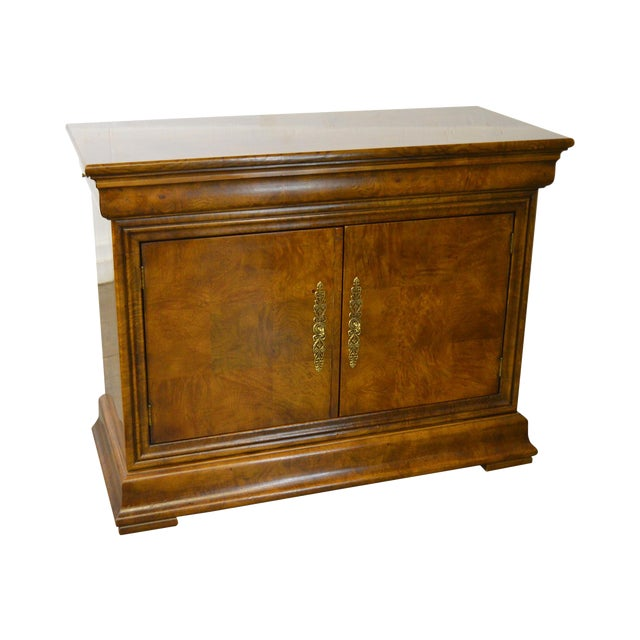 Henredon Burl Wood Charles X Collection 2 Door Server Cabinet For Sale