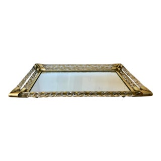 1940's Murano Mirrored Vanity Tray For Sale