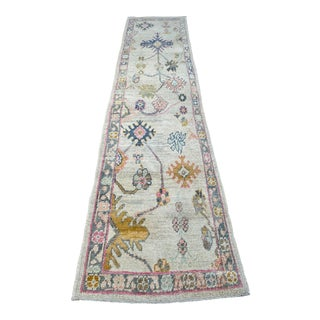 """Bellwether Rugs"" Colorful Oushak Runner For Sale"