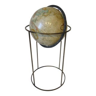 Replogle Globe With Brass Stand For Sale