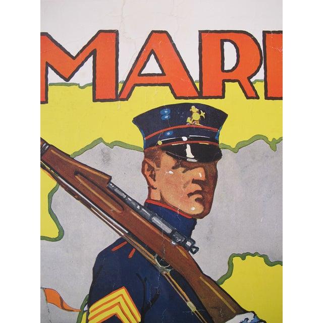 1918 Original American Marine Recruitment Poster - Image 3 of 4