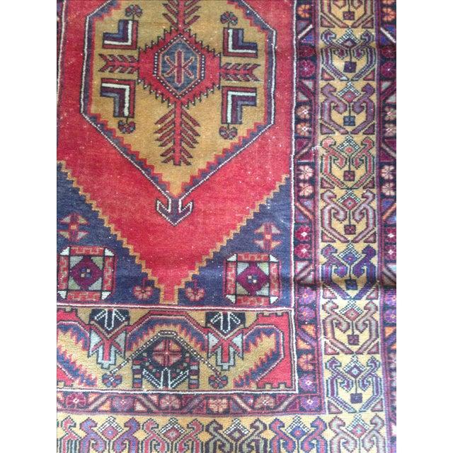 Vintage Turkish Rug - 3′5″ × 6′5″ - Image 4 of 4