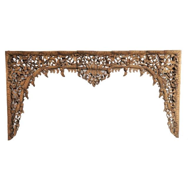 Vintage Burmese Hand-Carved Arch For Sale - Image 13 of 13