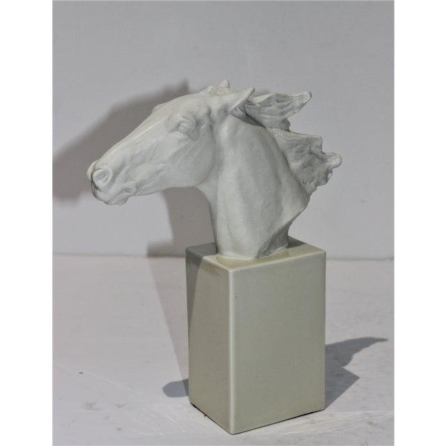 Vintage 1930s-1940s Horse Sculpture White Porcelain For Sale - Image 12 of 13