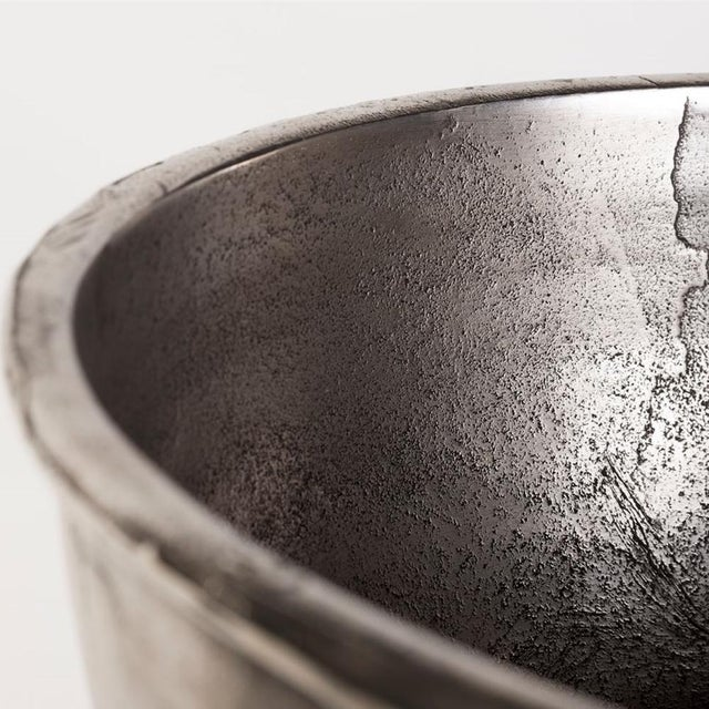 "Belgian Belgian Nickel Plated Oversized Belgian ""Andica"" Footed Wine Cooler For Sale - Image 3 of 7"