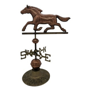 Vintage Country Copper and Brass Horse Weathervane