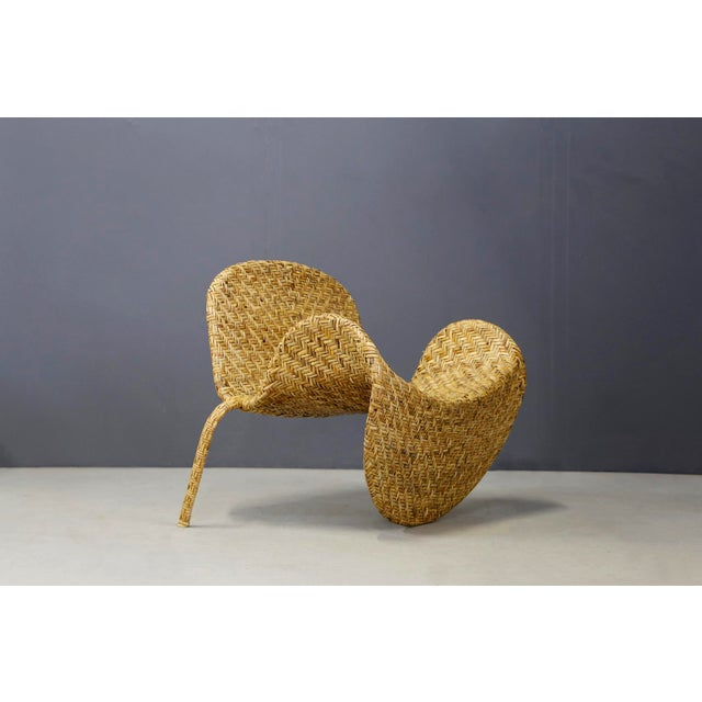 Italian Mid-Century Armchairs in Beige Colored Rattan, 1950s For Sale - Image 11 of 12