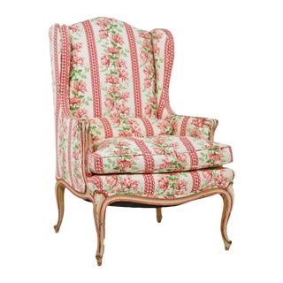 French Painted Vintage Wingback Chair