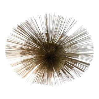 """C. Jere Grand """"Nest"""" Brass Flush Lights - a Pair"""