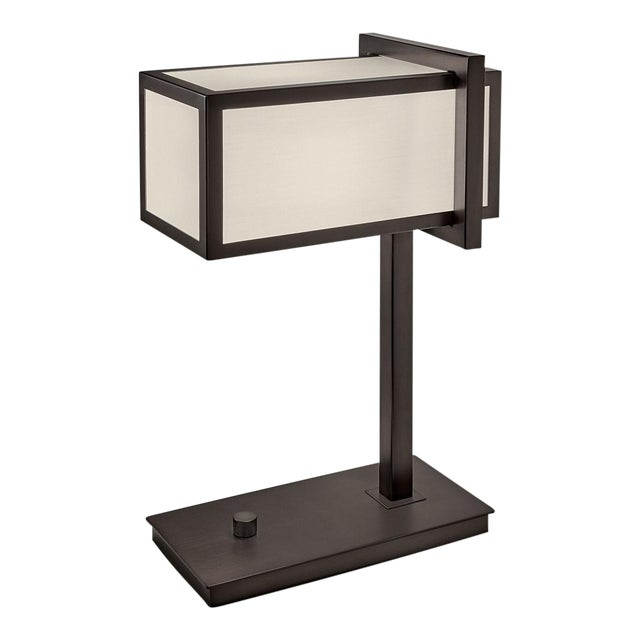 Mid-Century Modern Chelsea Black Bronze Table Lamp For Sale - Image 3 of 4