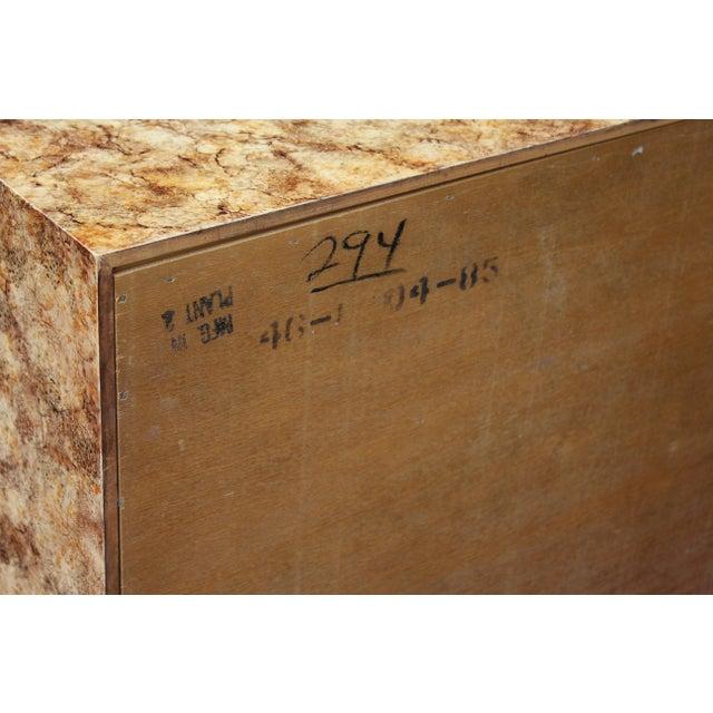Brass Henredon Faux-Tortoise Cabinet For Sale - Image 7 of 10