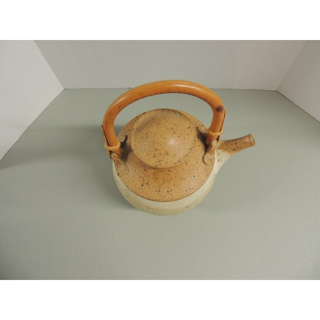 Vintage Art Pottery Ceramic Teapot - Image 3 of 4