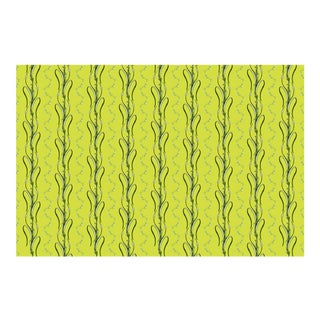 Cattails Acacia Linen Cotton Fabric, 3 Yards For Sale