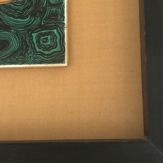 Vintage Fornasetti Italian Framed Malachite Tiles - Set of 4 For Sale - Image 11 of 13