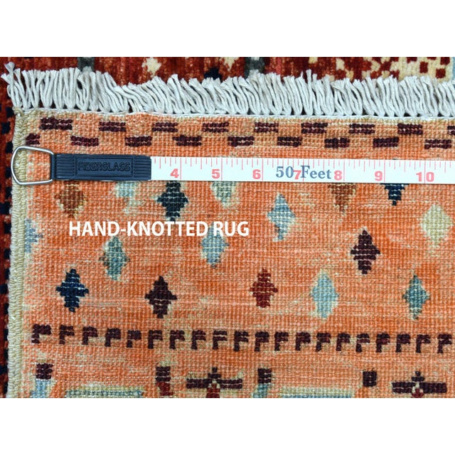 Wool Kashkuli Gabbeh Pictorial Hand Knotted Rug For Sale In New York - Image 6 of 7
