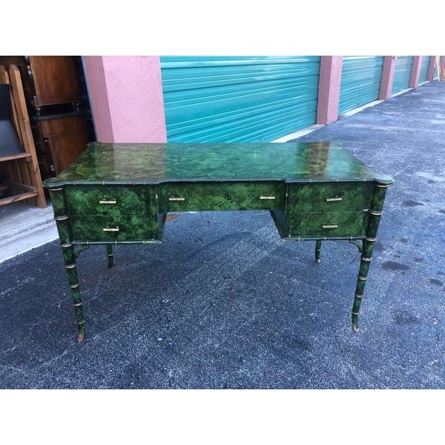Antique Painted Malachite Desk For Sale - Image 13 of 13