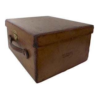 Early 1900's Leather Hat Case Luggage For Sale