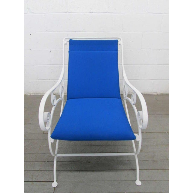Mid-Century Modern Pair of Wrought Iron Lounge Chairs For Sale - Image 3 of 9
