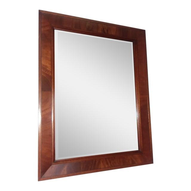 Cherry Wood Frame Mirror   Chairish