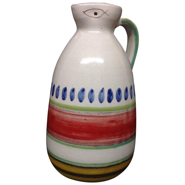 Desimone Hand-Decorated Italian Pitcher - Image 1 of 4