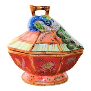 Vintage Peacock Trinket Box