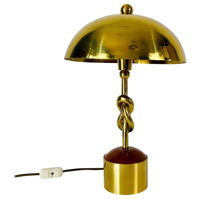 Heavy Italian Midcentury Solid Brass Table Lamp, 1960s, Italy For Sale - Image 13 of 13