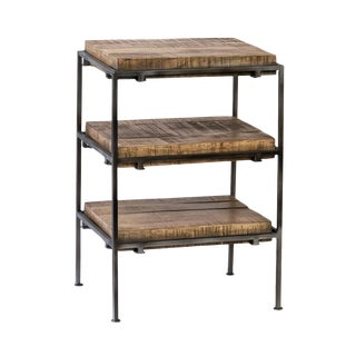 Salvaged 3 Shelf Side Table For Sale