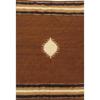 "Vintage Turkish Mohair Rug, 4'3"" X 6'3 For Sale"