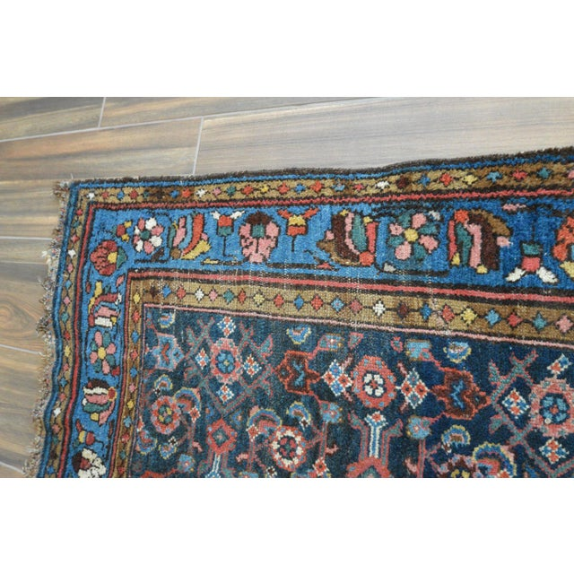 Antique Persian Hand Woven Runner- 3′10″ × 9′7″ - Image 11 of 11