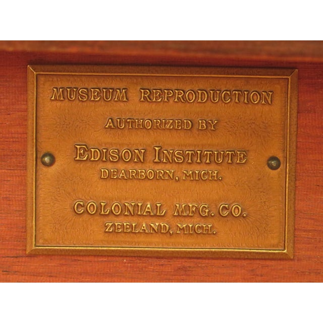 Colonial Edison Institute Henry Ford Mahogany Chest of Drawers For Sale - Image 10 of 11