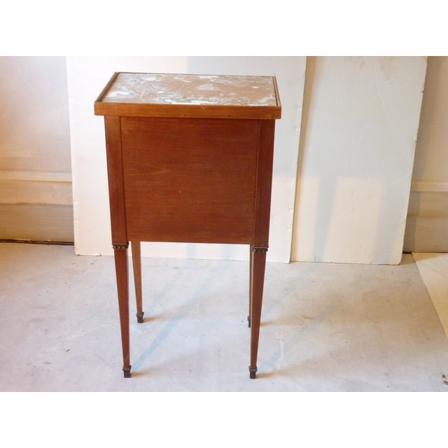Marquetry Inlaid Night Table For Sale - Image 4 of 9