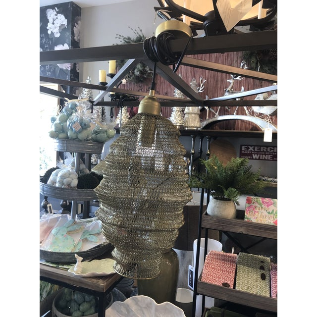 2020s Copper Mesh Pendant from Kenneth Ludwig Home For Sale - Image 5 of 7