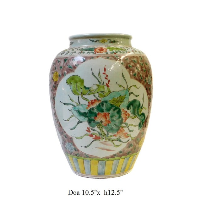 Chinese Flower Bird Scenery Porcelain Vase - Image 6 of 6