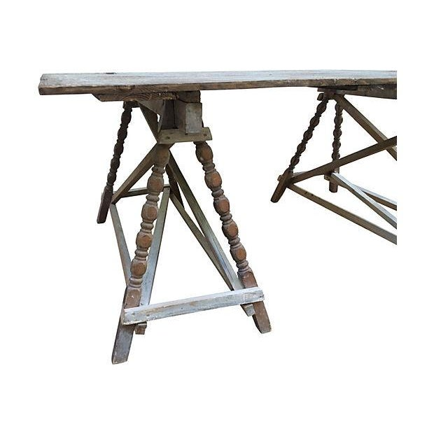 French Farm Door Table - Image 3 of 3