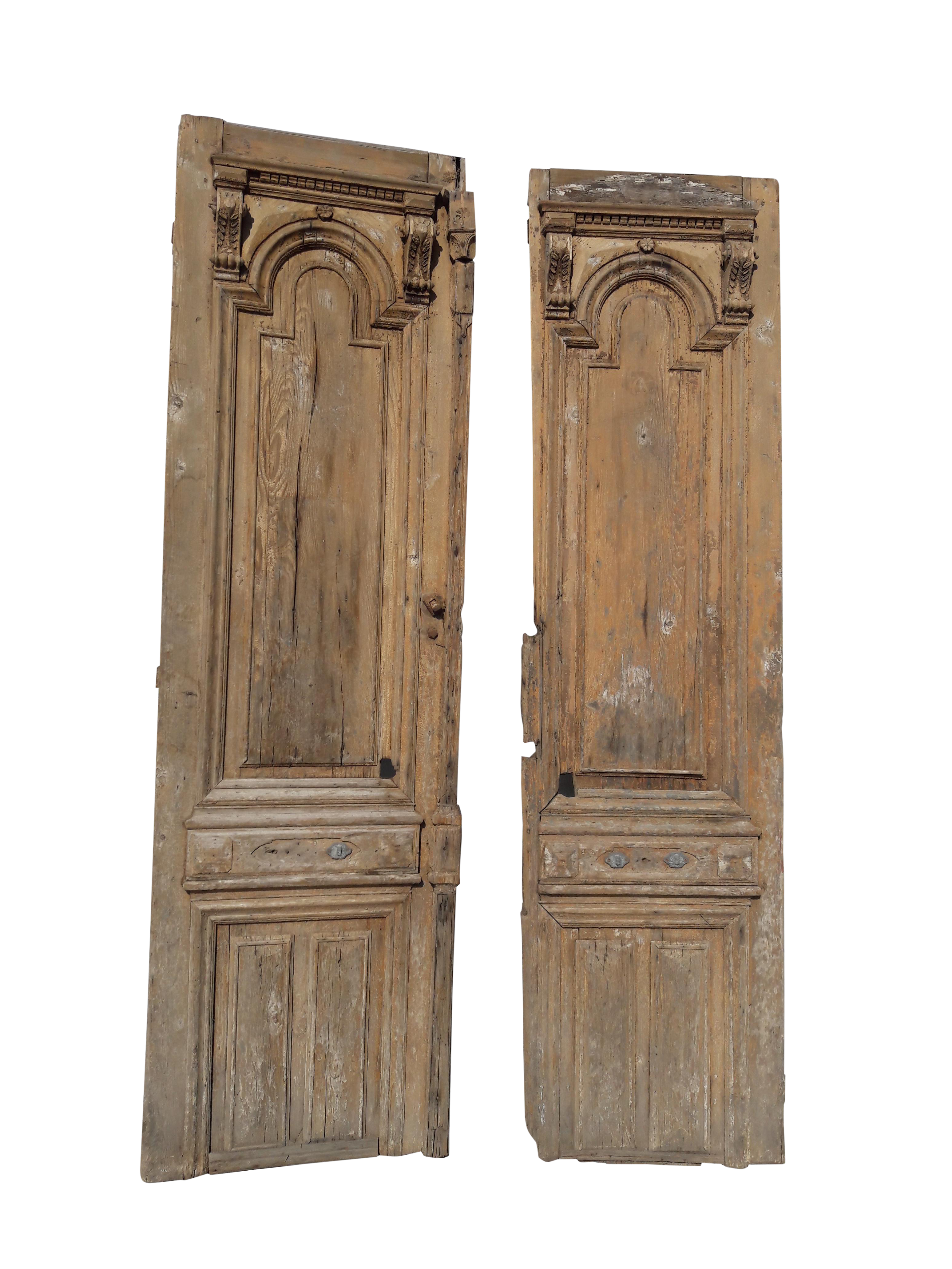 Antique European Architectural French Exterior Carved Mediterranean Country Farmhouse Doors - a Pair  sc 1 st  Chairish & Antique European Architectural French Exterior Carved Mediterranean ...