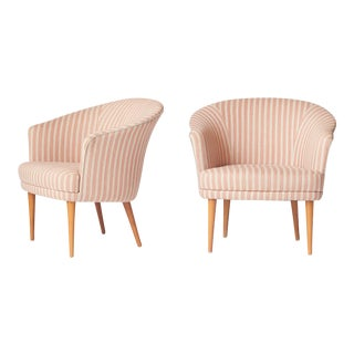 Pair of Lounge Chairs by Kerstin Horlin-Holmquist