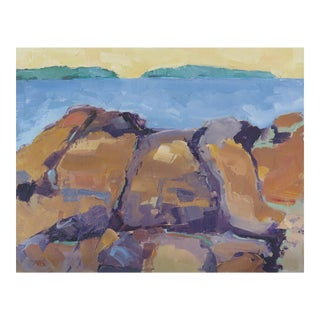 Maine Rocks Series Oil Painting