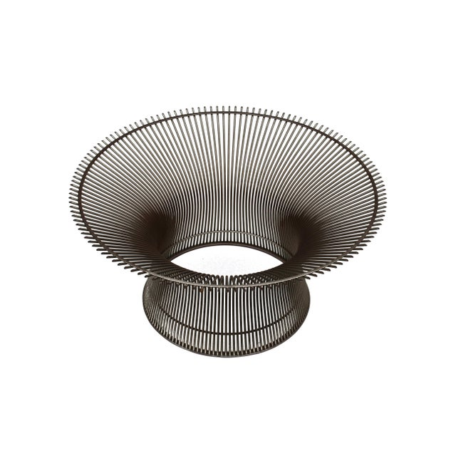 Iconic vintage Warren Platner for Knoll coffee table base in nickel finish. The iconic pieces are created by welding...