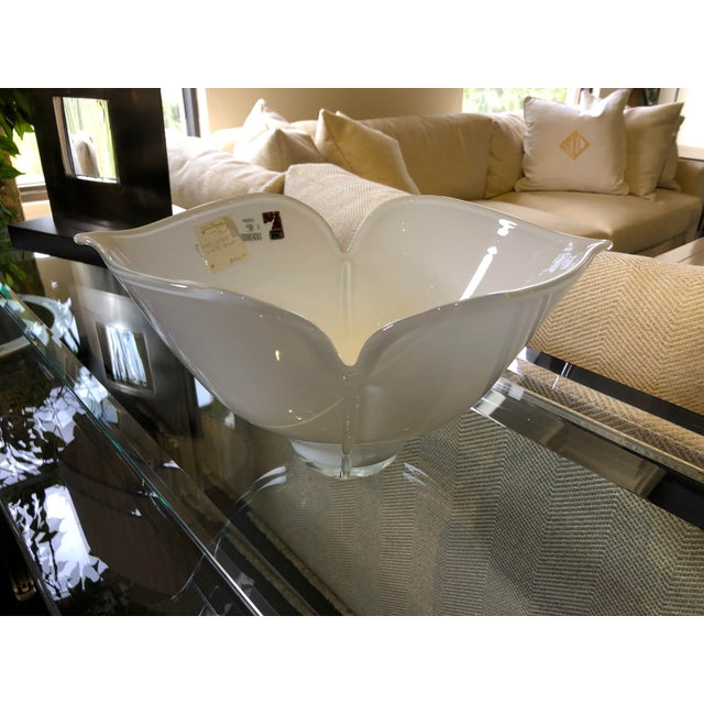 1980s 1980s Vintage Barovier E Toso Vetri Murano Italian Art Glass Centerpiece Bowl For Sale - Image 5 of 9