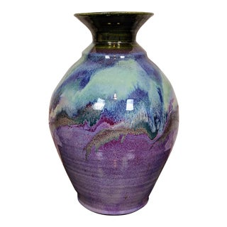 Orcas Island Pottery Floor Vase by Syd Exton For Sale