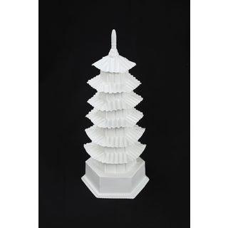 1970s Vintage Glossy White Pagoda Preview