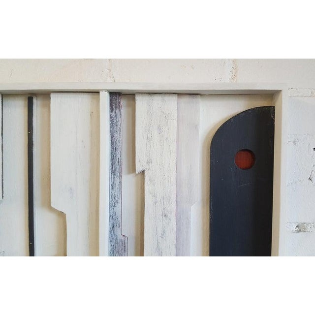 Wood Wall Sculpture Frieze Panel by Paul Marra For Sale - Image 7 of 8