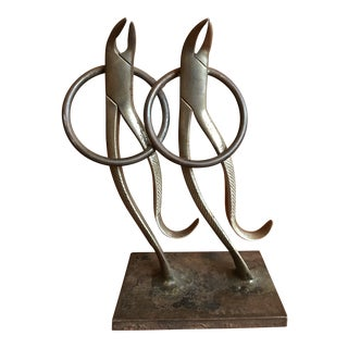French Folk Art Dancing Pliers Sculpture For Sale