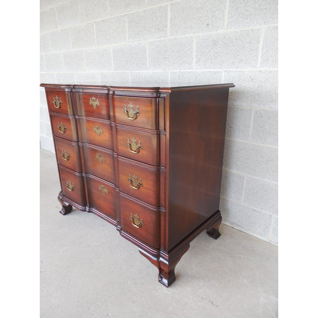 KINDEL Chippendale Style Mahogany Block Front Chest - Image 4 of 11