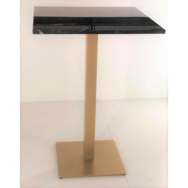 New Bistro High Table in Gilded Wrought Iron With Black Marble Top For Sale - Image 4 of 7